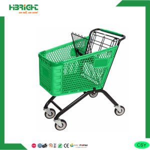 180L Wholesaler Supermarket Plastic Trolley pictures & photos