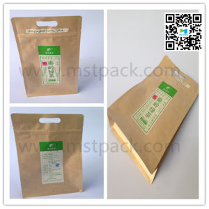 200g Tea Packaging Bag Kraft Paper Aluminium Foil Flat Bottom pictures & photos