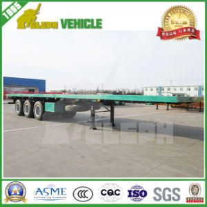 Tri-Axle 20-40FT 40-60ton High-Bed Platform Container Flatbed Truck Trailer