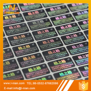 Self Adhesive Anti Counterfeit Holographic Label pictures & photos