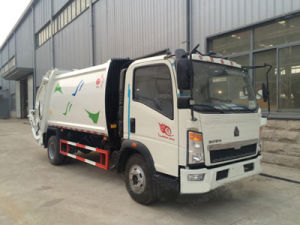 HOWO Light Duty 8m3 Compaction Garbage Truck pictures & photos