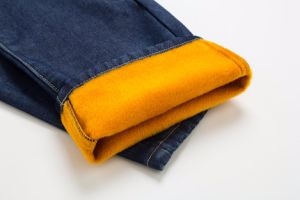 D841 Winter Warm Fleece Lined Dedim Jeans pictures & photos