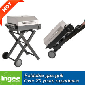 1- Burner Portable Gas BBQ Grill Folding Trolley pictures & photos