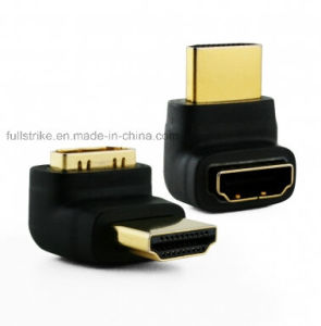 Right Angle HDMI Adapter Male to Female 270 Degree