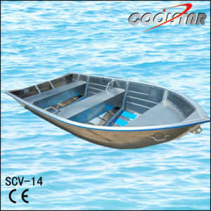 Aluminum Boat with Screw Mounted Bench and Rubber Coating pictures & photos