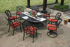 Fashionable Dining Set Aluminum Garden Furniture pictures & photos