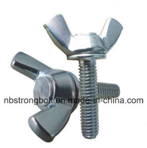 DIN316 Wing Screw with White Zinc Plated Cr3+ Carbon Steel / Stainless Steel pictures & photos