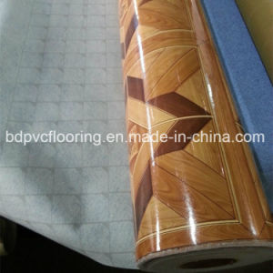 Embossed Felt Backing Vinyl Flooring Mat Rolls pictures & photos