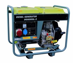 50Hz 1phase 6kw Electric Air Cooled Diesel Generator/Diesel Generating Set pictures & photos