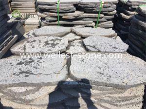Cheap Garden Stones, Random Round Shape Lava Stone Stepping Stones