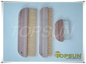 Wooden Head Plastic Bristle Cleaning Brush