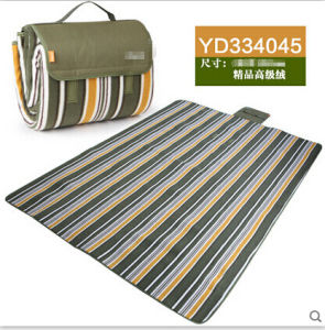 New Design Rural Blue-Black Color Bar Microfiber Picnic Blanket pictures & photos