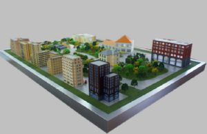 Plastic Architecture Model, Miniature Model of a Community Service Center (JW-260) pictures & photos