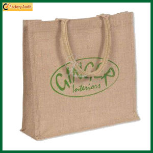 Wholesale Custom Jute Shopping Tote Promotional Advertising Handle Shopper Bags pictures & photos