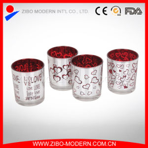High Quality Low Price Electroplated Candle Glass Holders pictures & photos