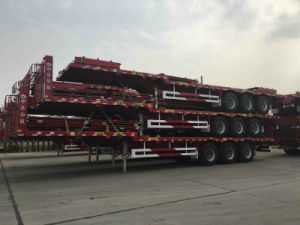 Hot Sale 3axle Flatbed Semi Trailer pictures & photos