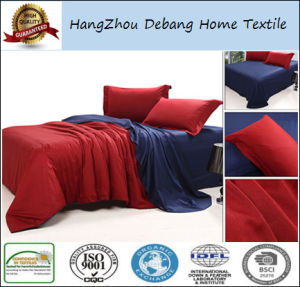Factory Price Microfiber Bed Sheet Hotel Plain Bed Bedding Sets pictures & photos