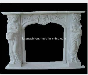 Popular Decorative White Marble Fireplace pictures & photos