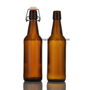 330ml Amber Beer Bottle with Flip Cap pictures & photos