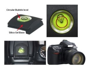 Hot Shoe Camera Spirit Level (Silica Gel) pictures & photos