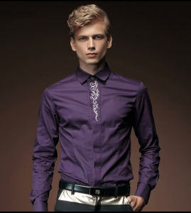 Sports Embroidery Slim Fit Printing Men′s Shirt pictures & photos