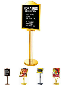 Customized Factory Hotel Restaurant Display Sign Stand Advertising Sign Stand