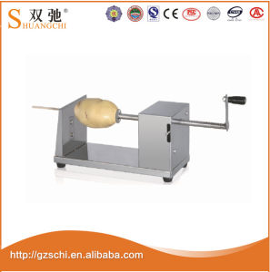 Electric Automatic Chips Condition Twisted Potato Cutter Twisted Chips Machine pictures & photos