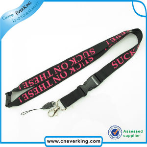 Custom Printed Lanyard with Mobile Phone Strap and Metal Hook pictures & photos