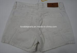 9.6oz White Denim Shorts for Women (HY2543C) pictures & photos