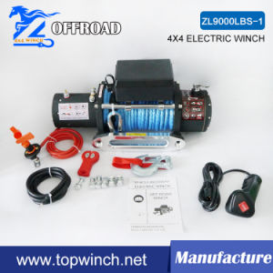 SUV 12VDC Elctric Winch Synthetic Rope Winch with Ce (9000lbs-1) pictures & photos