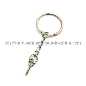 Metal Split Key Ring with Chain & Screw pictures & photos