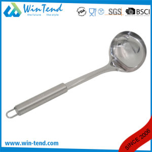 Wholesale Stainless Steel Kitchen Soup Ladle with Hook pictures & photos