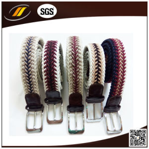 Manufactory Knitted Mix Color Elastic Webbing Men Belt pictures & photos