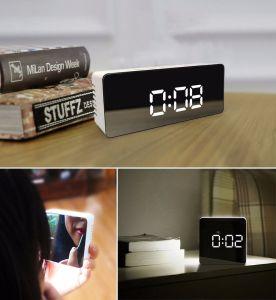 Mirror Digital Alarm Clock LED with Temperature pictures & photos