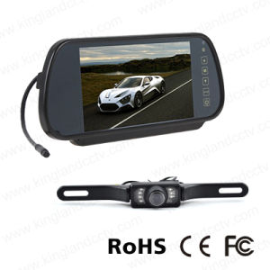 7inches Mirror Monitor with Rear Vision License Plate Camera