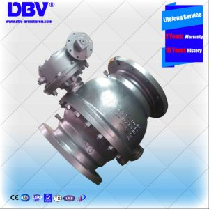 Industrial Worm Gear Trunnion Mounted Ball Valve