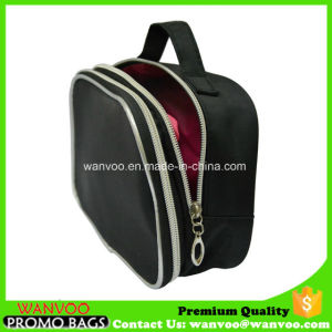 Black Cosmetic Bag with Double Layer for Toiletry pictures & photos