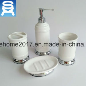 Hotel Usage Organic Porcelain and Metal Mix Bathroom Accessories pictures & photos