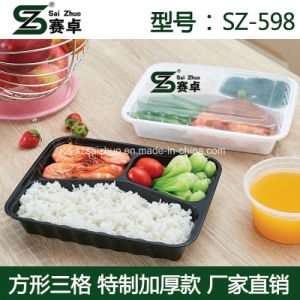 3 Compartment Factory Wholesale High Quality Disposable Plastic Food Container pictures & photos