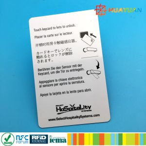 Hotel Door Lock Management Plastic Magnetic Stripe Swip RFID Card pictures & photos