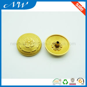 Golden Color 4 Part Set Alloy Snap Button pictures & photos