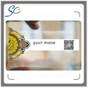 Transparent PVC Card with Qr Code pictures & photos