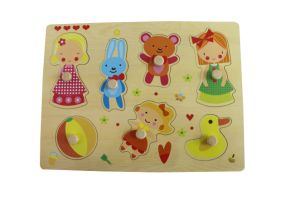 Wooden Girl Playing PuzzleToy for Kids and Children pictures & photos
