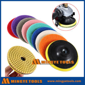 4 Inch Diamond Marble Floor Polishing Pads pictures & photos