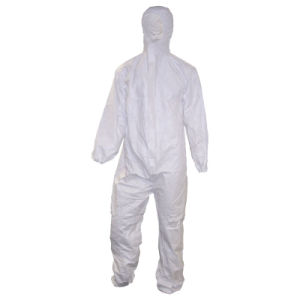 Blue Disposable Microporous Coverall Protective Clothing of High Quality pictures & photos