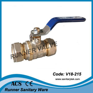High Quality Brass Ball Valve with Compression Ends (V18-212) pictures & photos