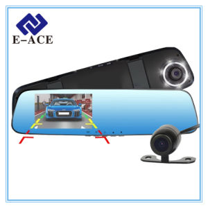 1080P Dual Lens Car DVR Camera with 6 LED Lights pictures & photos