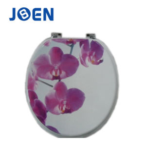 Flower Design Hot Transfer Print MDF Mold Wood Toilet Seat pictures & photos