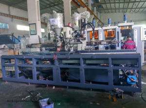 TPU. PVC. TR 2/4 Station 2 Screw Soles Making Machine pictures & photos