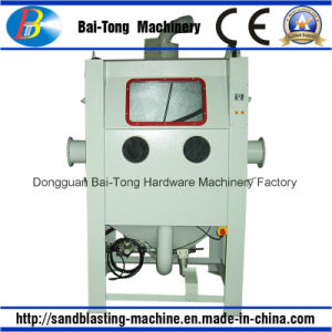 Manual Mould Sandblast Cabinet with Trolley and Turntable pictures & photos
